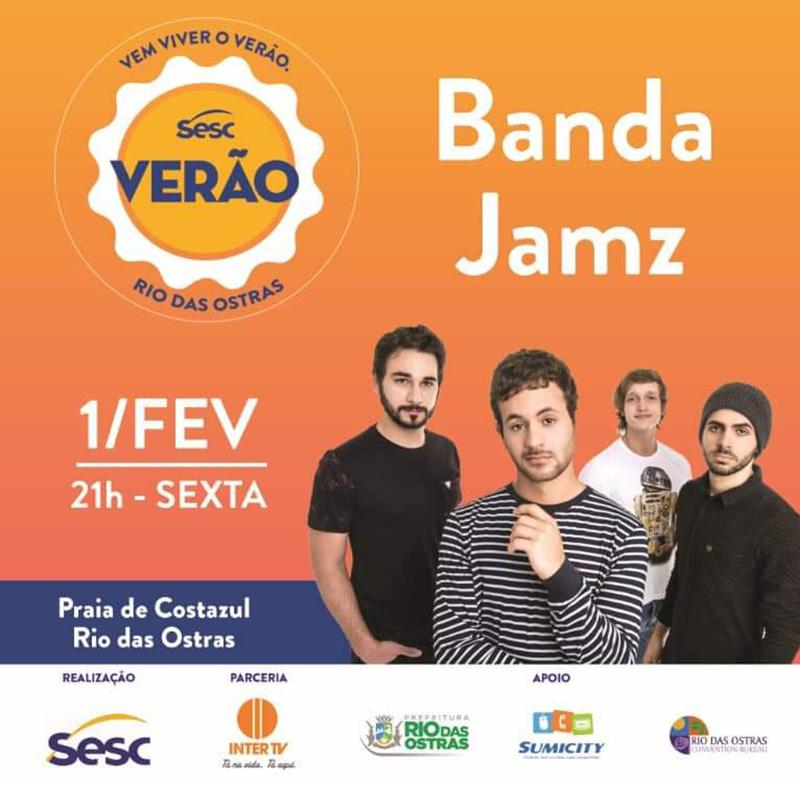 SESC Verão - Banda Jamz - Eventos, Portal Rio das Ostras - RJ